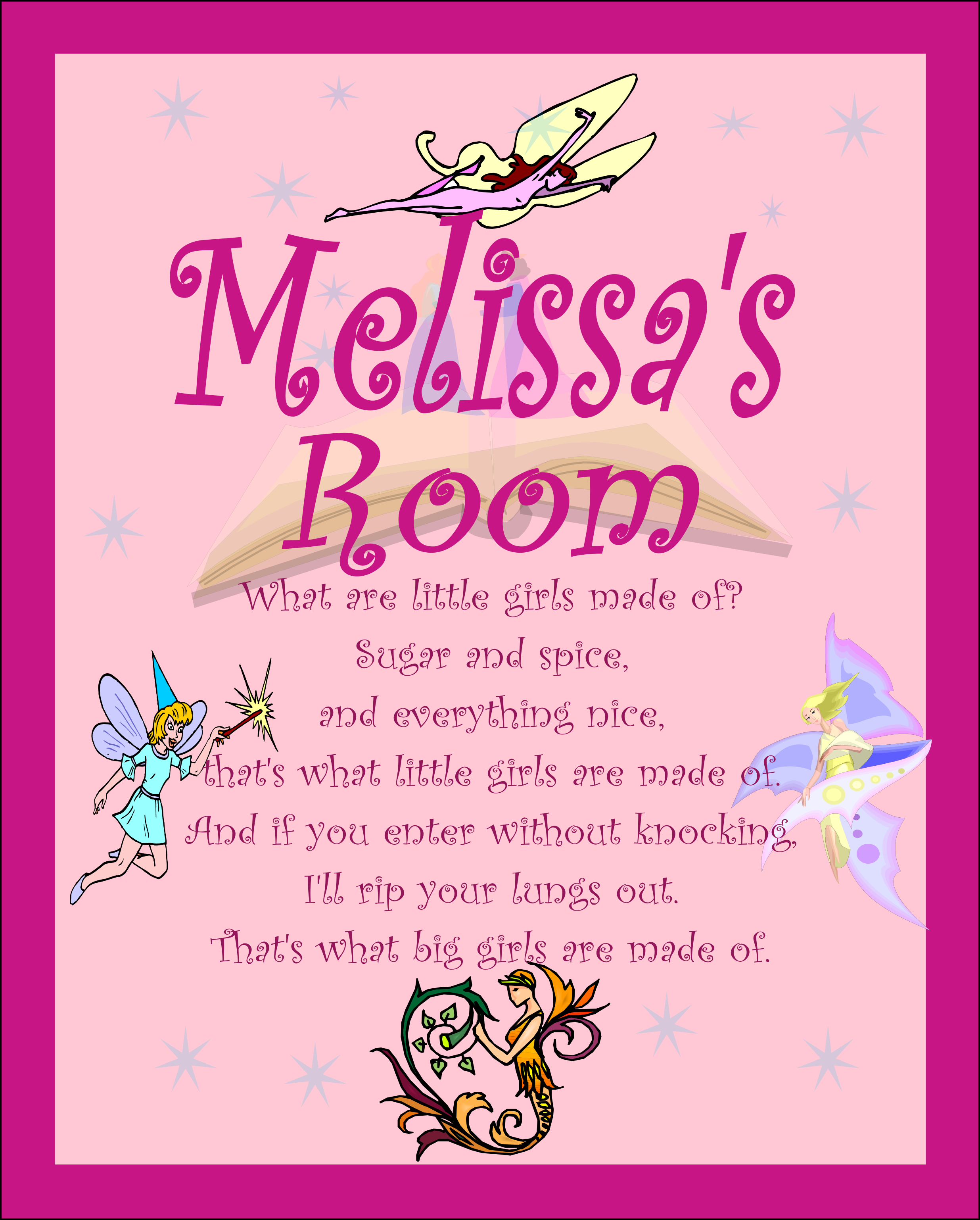 Pawsitively natural llc custom embroidery you can for Signs for little girl rooms